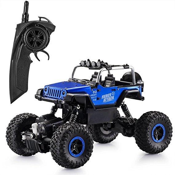 Aandyou RC Rock Crawler Jeep in blau