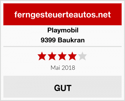 Playmobil 9399 Baukran Test