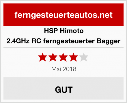 HSP Himoto 2.4GHz RC ferngesteuerter Bagger Test