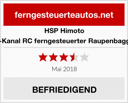 HSP Himoto 11-Kanal RC ferngesteuerter Raupenbagger Test