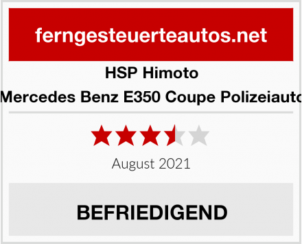 HSP Himoto Mercedes Benz E350 Coupe Polizeiauto Test