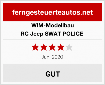 WIM-Modellbau RC Jeep SWAT POLICE  Test