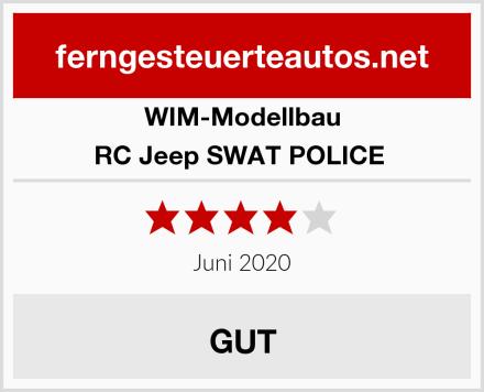 WIM-Modellbau RC Jeep SWAT POLICE  Test