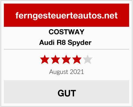 COSTWAY Audi R8 Spyder  Test