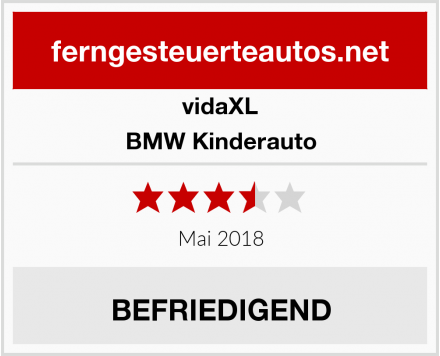 vidaXL BMW Kinderauto Test