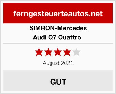 SIMRON-Mercedes Audi Q7 Quattro  Test