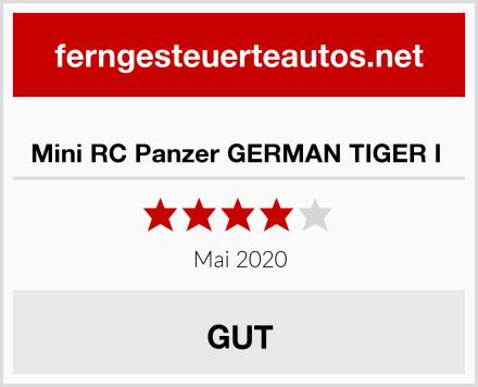Mini RC Panzer GERMAN TIGER I  Test