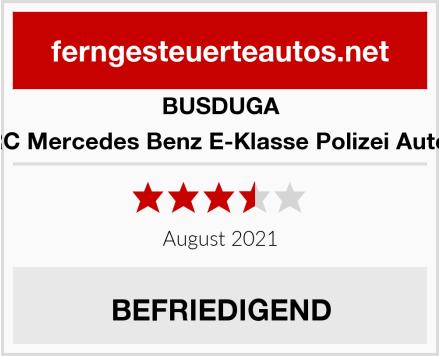 BUSDUGA RC Mercedes Benz E-Klasse Polizei Auto  Test