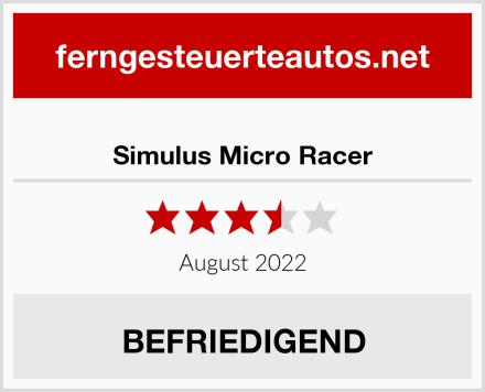 Simulus Micro Racer Test