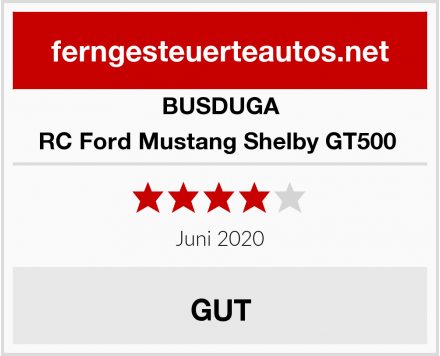 BUSDUGA RC Ford Mustang Shelby GT500  Test