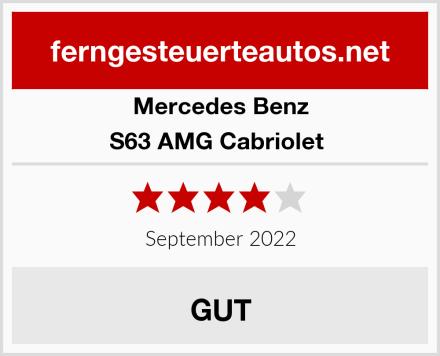 Mercedes Benz S63 AMG Cabriolet  Test
