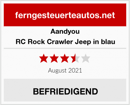 Aandyou RC Rock Crawler Jeep in blau Test