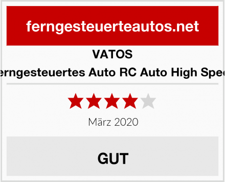 VATOS Ferngesteuertes Auto RC Auto High Speed Test