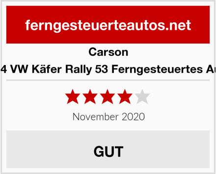 Carson 1:14 VW Käfer Rally 53 Ferngesteuertes Auto Test