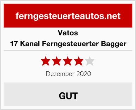 VATOS 17 Kanal Ferngesteuerter Bagger Test