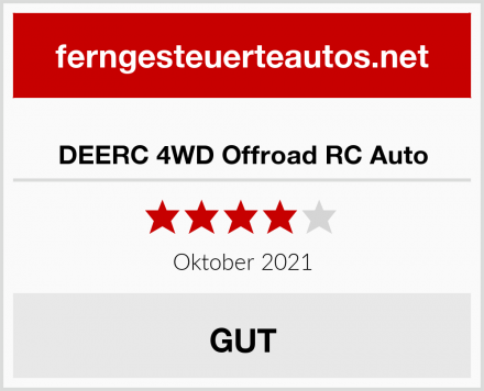 DEERC 4WD Offroad RC Auto Test
