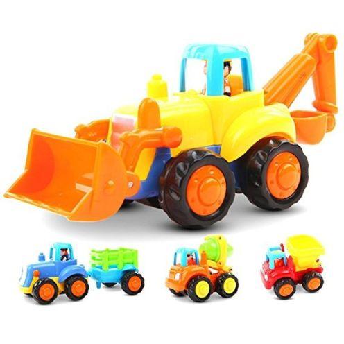 vangold 4 Baufahrzeuge in einem Set